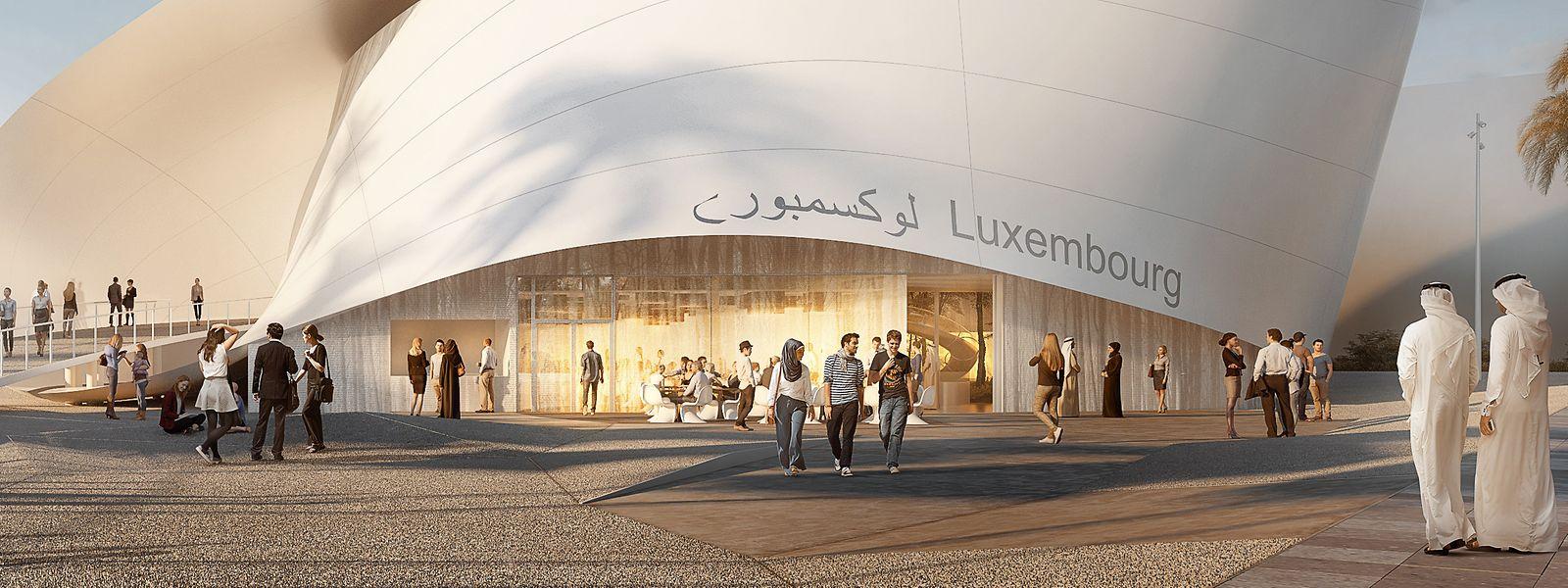 Dubai EXPO 2020, Weltausstellung, Luxemburger Pavillon - Luxemburg