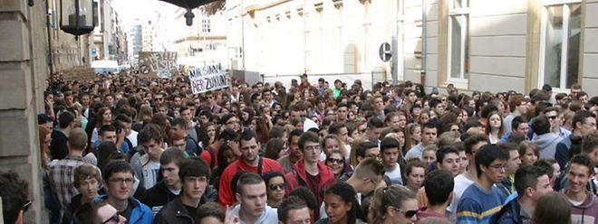 Großer Andrang bei der Schülerdemo in der Hauptstadt