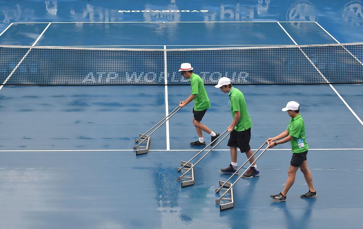 In Sydney macht das Wetter den Spielern einen Strich durch die Rechnung.