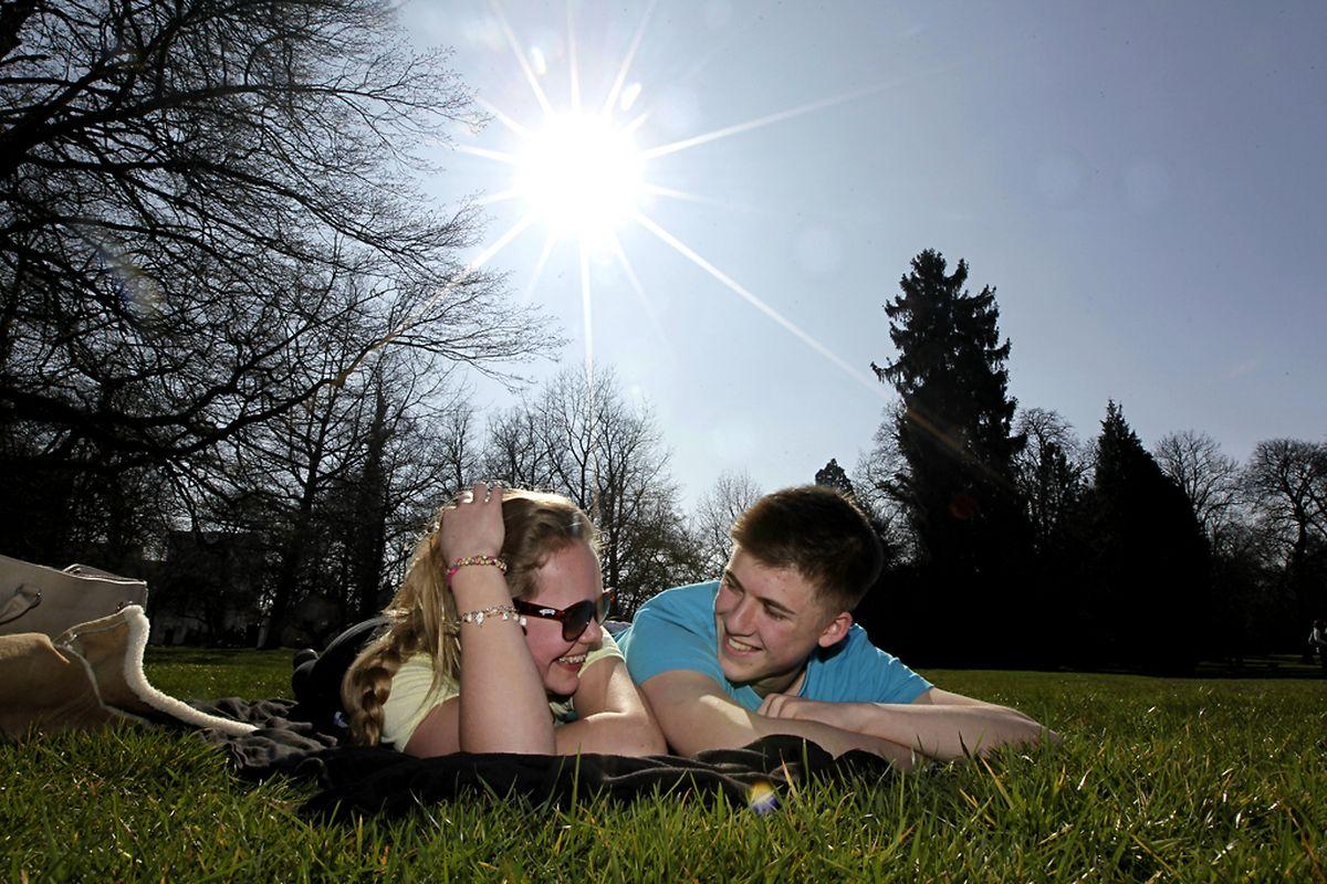 Mitte März 2014 kamen die Frühlingsstrahlen heraus. Ideal für ein paar Sonnenstunden auf der Kinnekswiss.