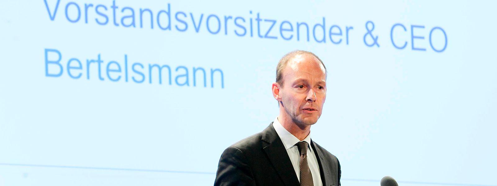 Bertelsmann-Chef Thomas Rabe wird RTL-Chef.