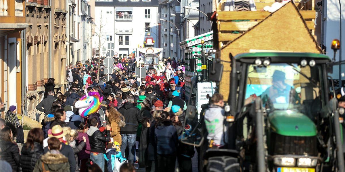 Etwa 13.000 Besucher ließen sich vom närrischen Treiben der Karnevalisten mitreißen.