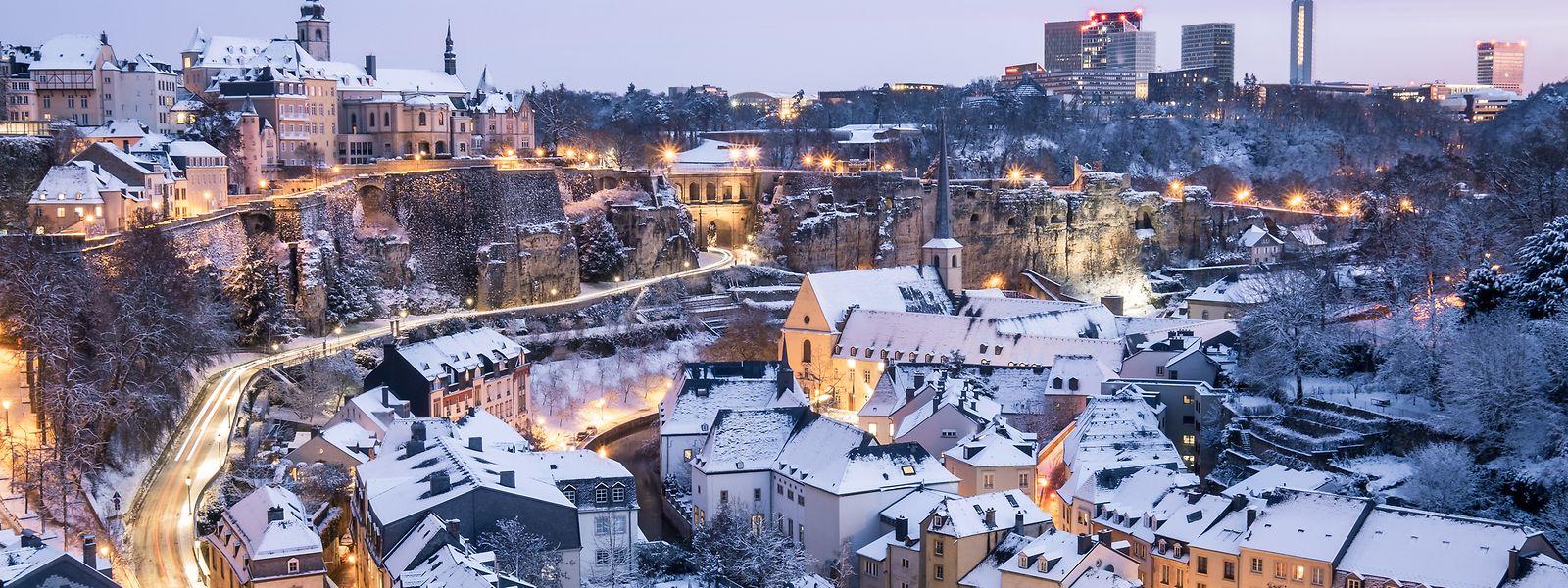 Die Hauptstadt unter einer Schneedecke.
