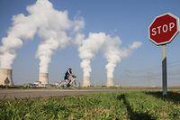 Centrale EDF  Cattenom. Atomzentrale Cattenom. exercice de sécurité. Photo: Guy Wolff
