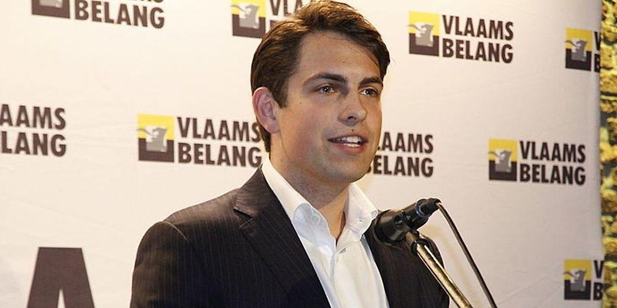 Tom Van Grieken, le très sélect président du Vlaams Belang.