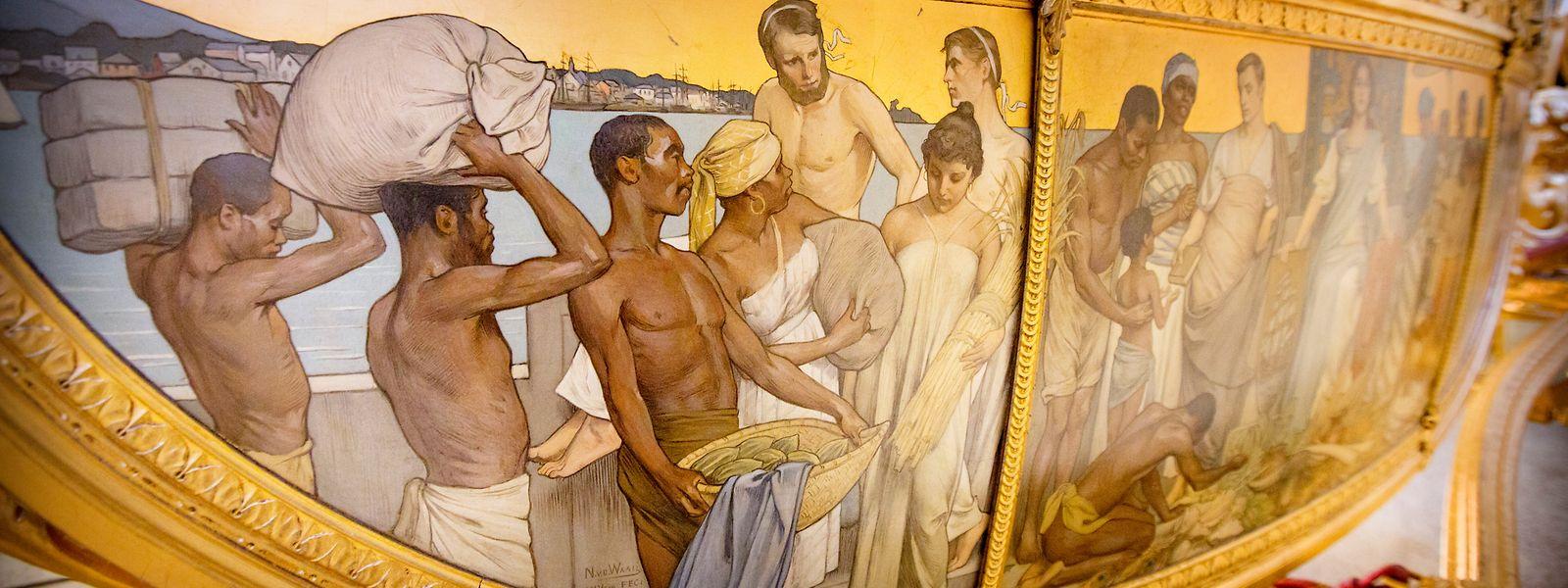 Über die Sklaven-Darstellungen auf der Goldenen Kutsche wird derzeit besonders heftig diskutiert.