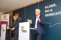 CSV-Fraktionschef und Spitzenkandidat Claude Wiseler (r.) und Parteipräsident Marc Spautz haben einen Plan für Luxemburg.