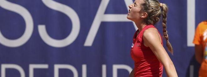 Eléonora Molinaro n'a pas pu aller au bout de son match du deuxième tour à Cuneo