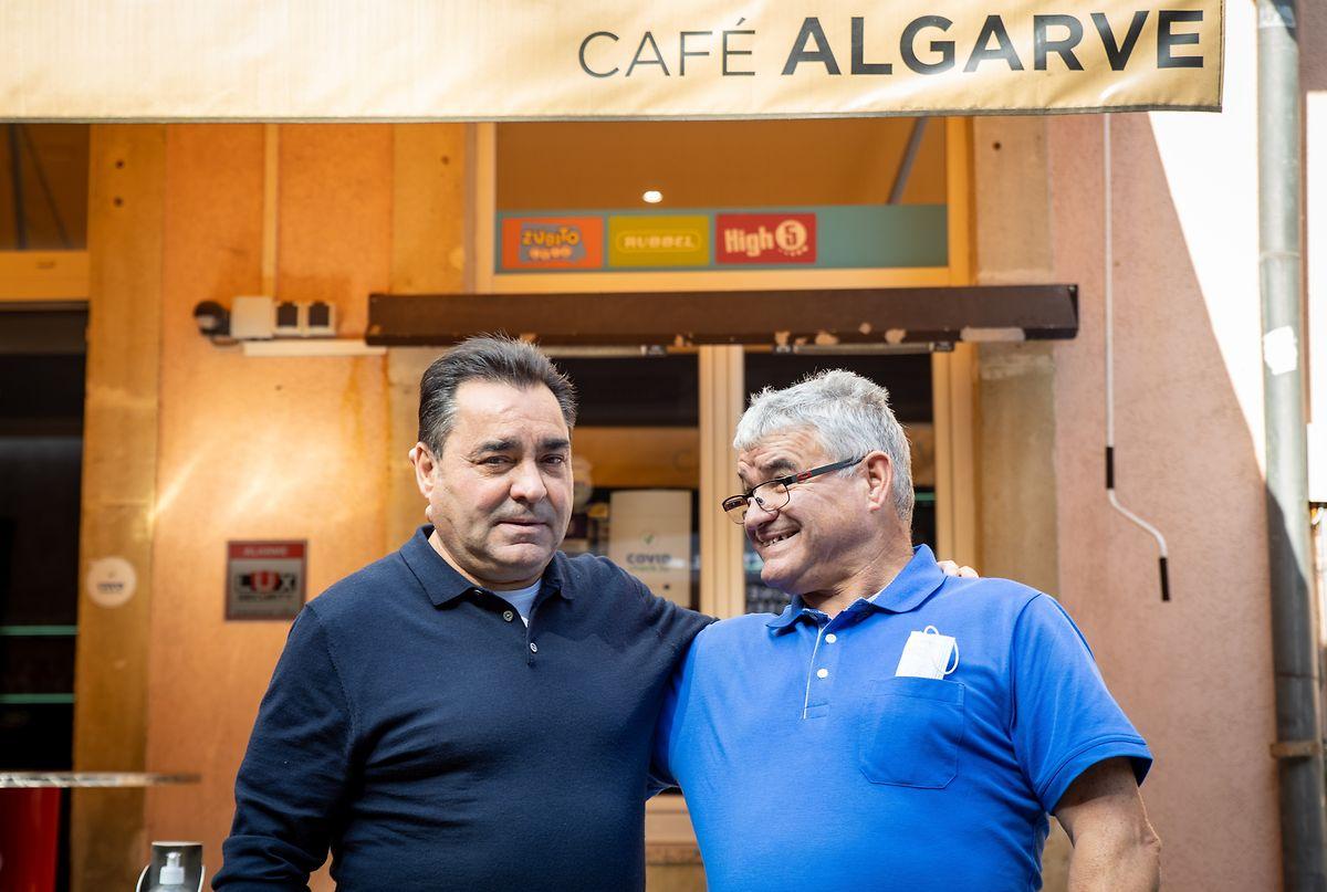Acácio e Fernando da Silva, esta semana, em Mondorf.
