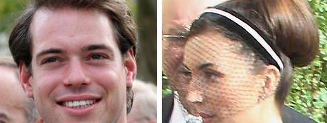 Prinz Félix und Claire Lademacher anlässlich der Hochzeit von Erbgroßherzog Guillaume und Gräfin Stéphanie de Lannoy.