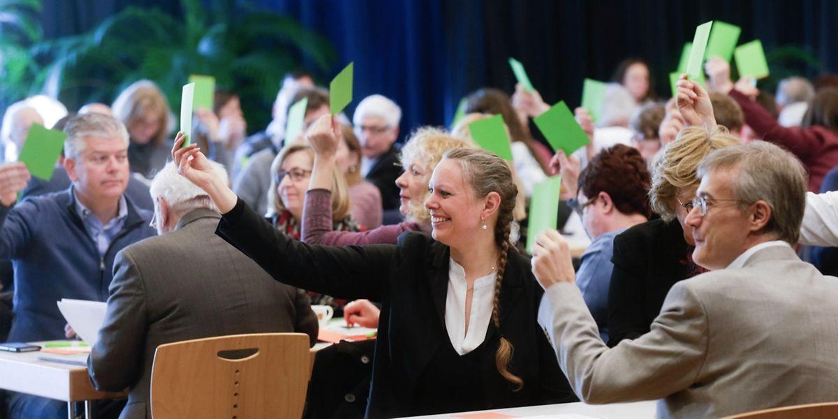 Die Grünen streben nach den Wahlen acht Sitze im Parlament und eine weitere Amtszeit in der Regierung. an.