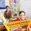 6 years Old Conor Neill pictured with his Mother Siobhan in the Doodle Den in St Michaels Infants School in Sexton Street Limerick Picture  Credit Brian Gavin Press 22