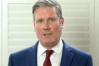 """In this TV grab from a handout video received from the Labour Party on April 4, 2020, new Leader of the Labour Party Keir Starmer speaks on the announcement of his victory in the leadership race of the Labour Party. - ritish Labour leadership candidate, Keir Starmer has won the leadership of the Labour Party.  The human rights lawyer beat rivals Rebecca Long-Bailey and Lisa Nandy after the first round of voting. (Photo by Handout / AFP) / RESTRICTED TO EDITORIAL USE - MANDATORY CREDIT """"AFP PHOTO /LABOUR PARTY """" - NO MARKETING - NO ADVERTISING CAMPAIGNS - DISTRIBUTED AS A SERVICE TO CLIENTS"""