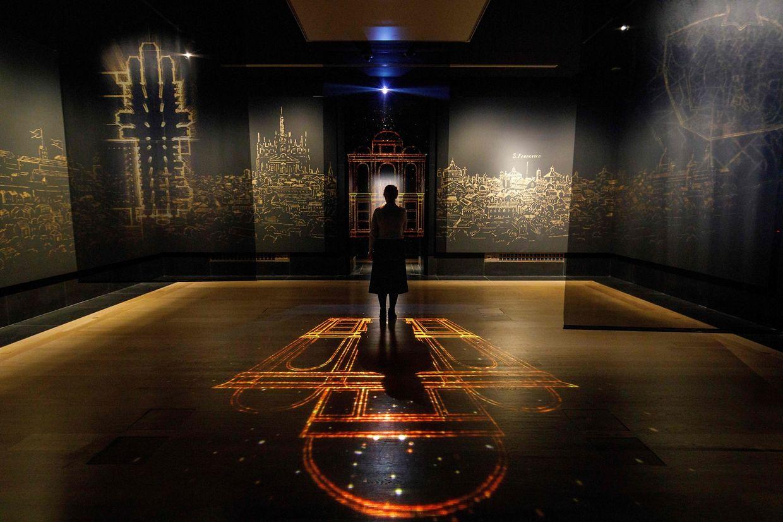 """London. In der britischen Hauptstadt kündigt sich die Schau """"Leonardo: Experience a Masterpiece"""" in der National Gallery an."""