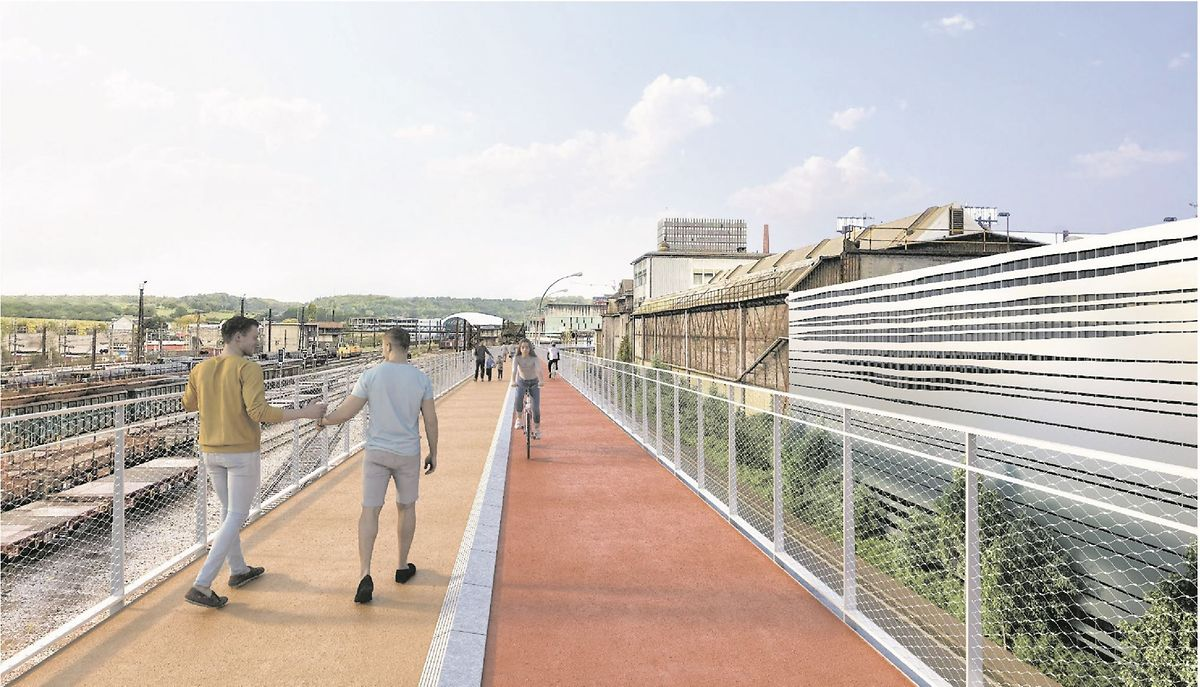 A cycling and walking path 7.5m above ground will also connect Esch-sur-Alzette with Belval Photo: mmtp