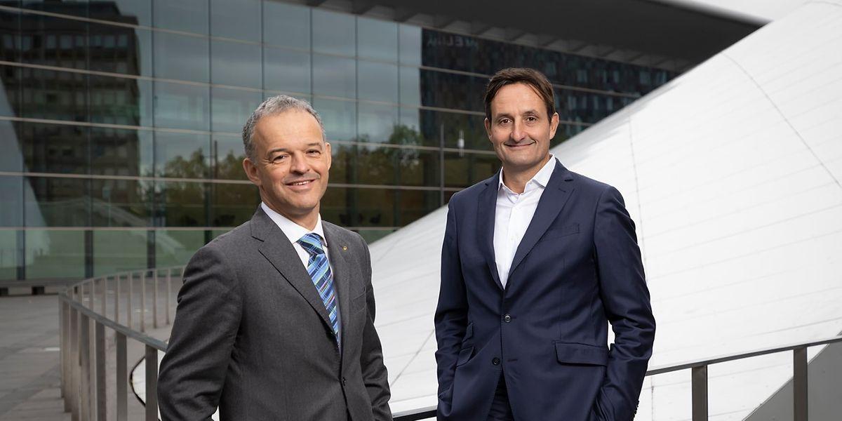 A compter du 1er janvier 2021, Michel Reckinger (à g.) succédera officiellement à Nicolas Buck comme président de l'UEL.