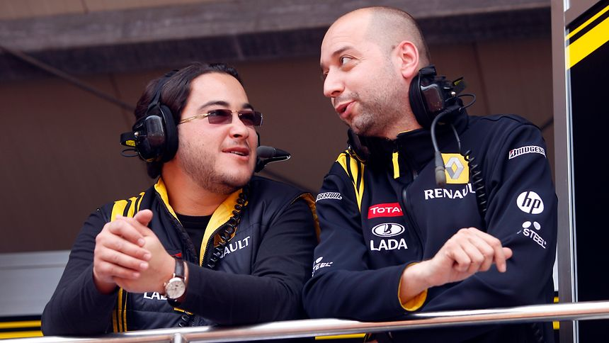 Tarek Obaid et Gerard Lopez le 15 mai 2010 au grand prix de Monaco.