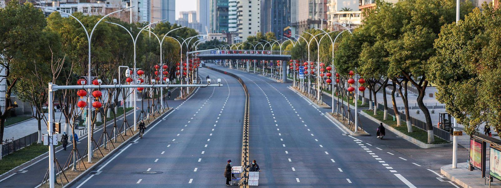 Ruhe in China: Auch die Wirtschaft leidet unter dem Virus.