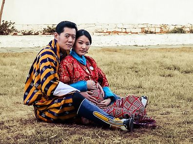 "(FILES) In this handout photograph released by The Royal Office for Media Bhutan on January 5, 2016, King Jigme Namgyel Wangchuck and Queen Jetsun Pema pose at Paro Ugyen Pelri Palace in Bhutan. Bhutan's royal couple on February 6, 2016 announced the birth of their first child, a baby prince, delighting the remote Himalayan kingdom where the monarchy is revered.     AFP PHOTO / FILES / ROYAL OFFICE FOR MEDIA BHUTAN  ---EDITORS NOTE--- RESTRICTED TO EDITORIAL USE - MANDATORY CREDIT ""AFP PHOTO / ROYAL OFFICE FOR MEDIA BHUTAN"" - NO MARKETING NO ADVERTISING CAMPAIGNS - DISTRIBUTED AS A SERVICE TO CLIENTS"