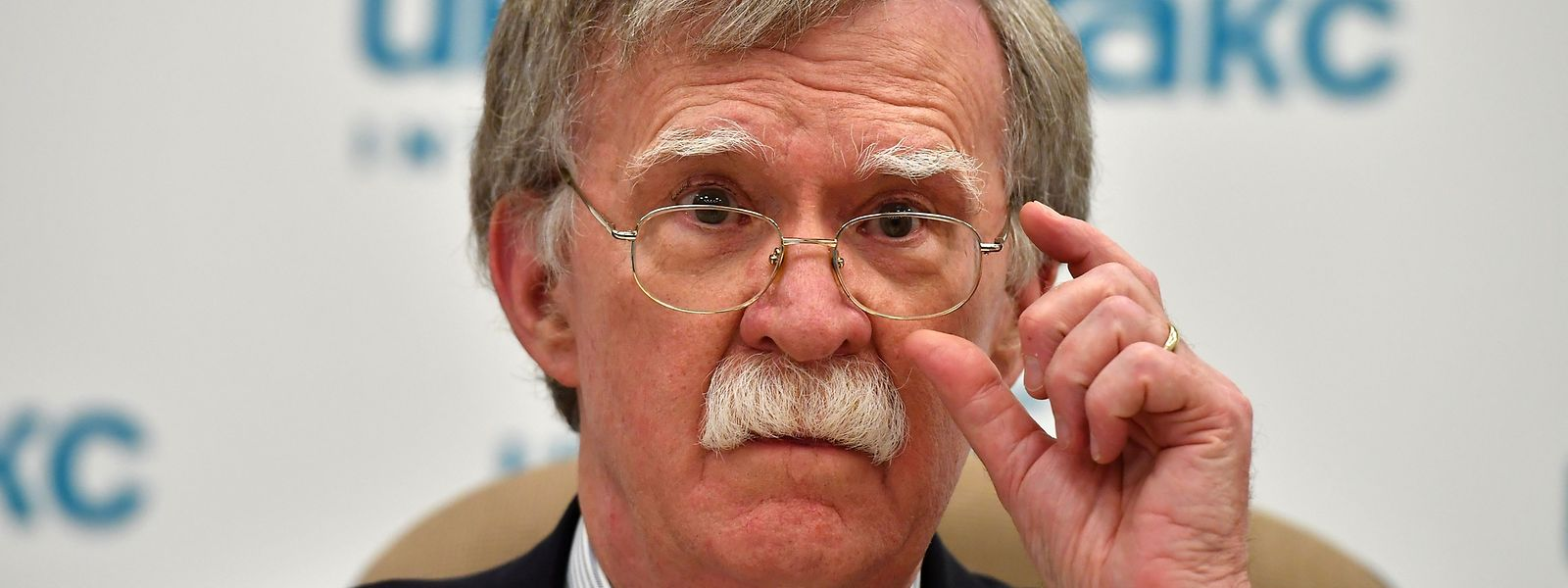 US National Security Advisor John Bolton attends a press conference in Moscow on June 27, 2018. Russian President Vladimir Putin on Wednesday expressed hope that the visit to Moscow of US leader Donald Trump's national security advisor would help revive bilateral ties amid tensions between Moscow and the West. / AFP PHOTO / Yuri KADOBNOV