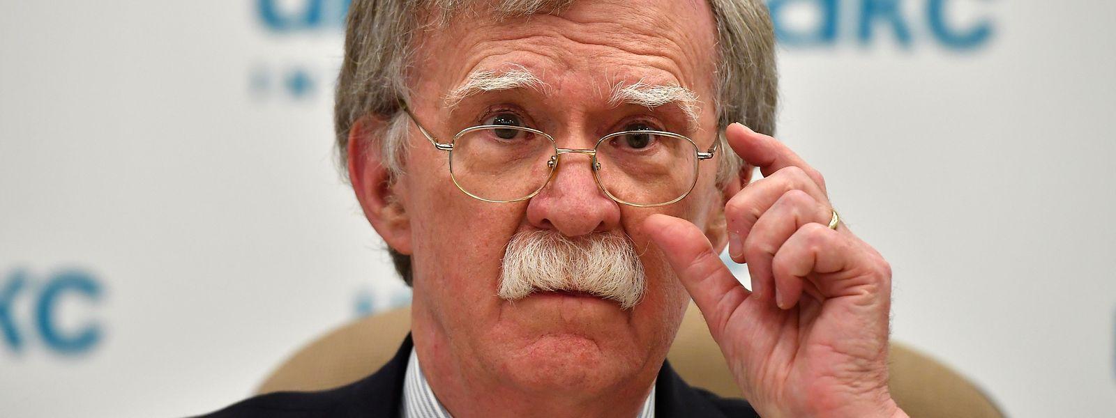 John Bolton bei einer Pressekonferenz im Juni.