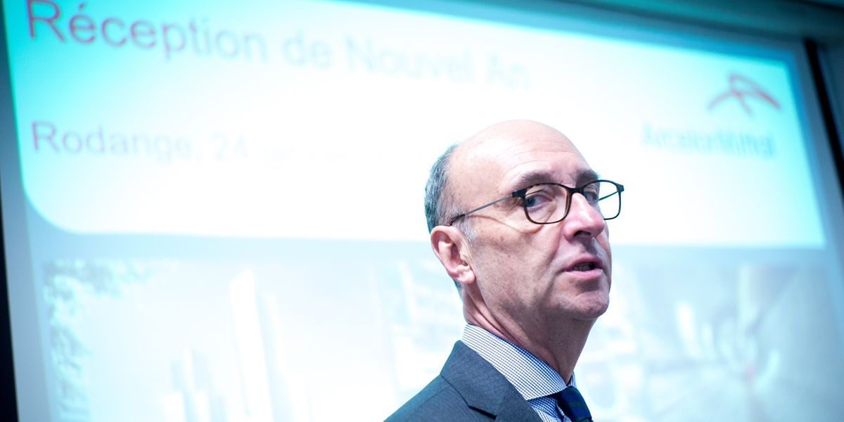 Le président d'ArcelorMittal Luxembourg Michel Wurth présentait les voeux du sidérurgiste hier sur le site de Rodange.