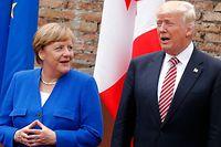 Angela Merkel und Donald Trump.