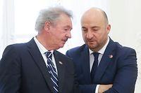 Visite d'Etat en Lituanie, Etienne Schneider et Jean Asselborn, lors de a Vilnius le 26 Octobre 2017. Photo: Chris Karaba