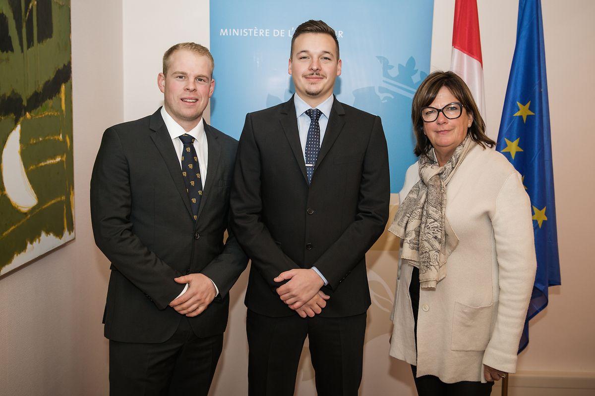 Bürgermeister Vincent Reding (Mitte) mit den Schöffen Bob Wagner und Andrée Colas.