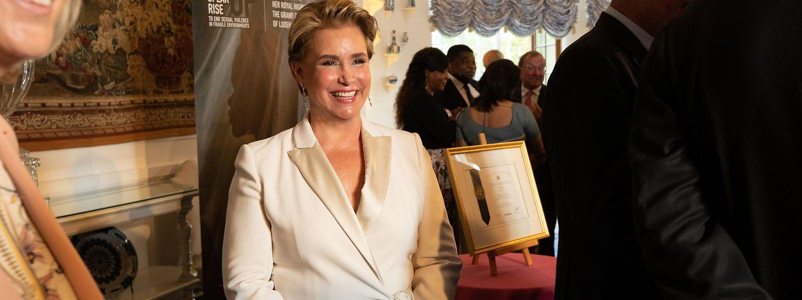 """Großherzogin Maria Teresa wurde kürzlich als """"Championne de la lutte contre les violences sexuelles liées aux conflits en soutien au plaidoyer des Nations-Unies"""" ausgezeichnet."""