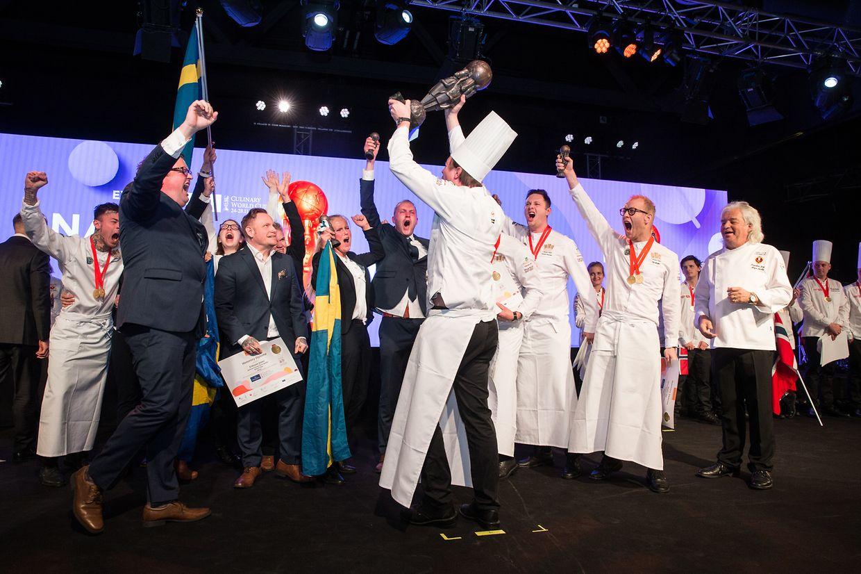 Die Trophäe für die beste Koch-Nationalmannschaft (National Culinary Team) geht nach Schweden.