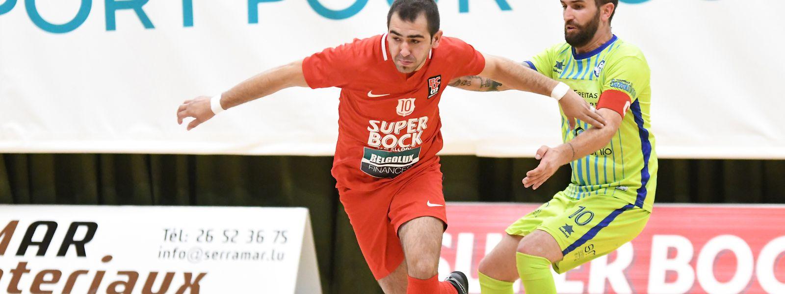 José Vieira (en rouge, FC Differdange 03) et Diogo Pereira 8US Esch et Diogo Pereia (US Esch) se retrouvent ce lundi pour la finale de la Coupe de Luxembourg