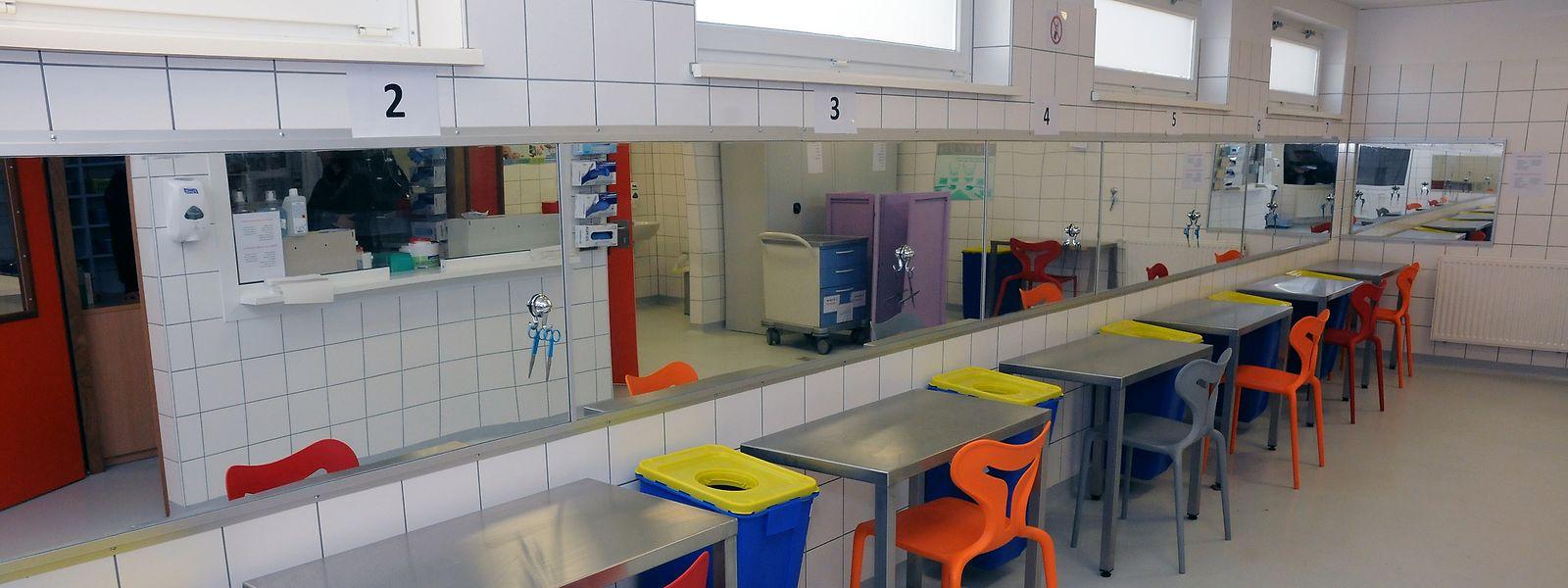 In Drogenkonsumräumen wird den Kunden steriles Spritzbesteck zur Verfügung gestellt.