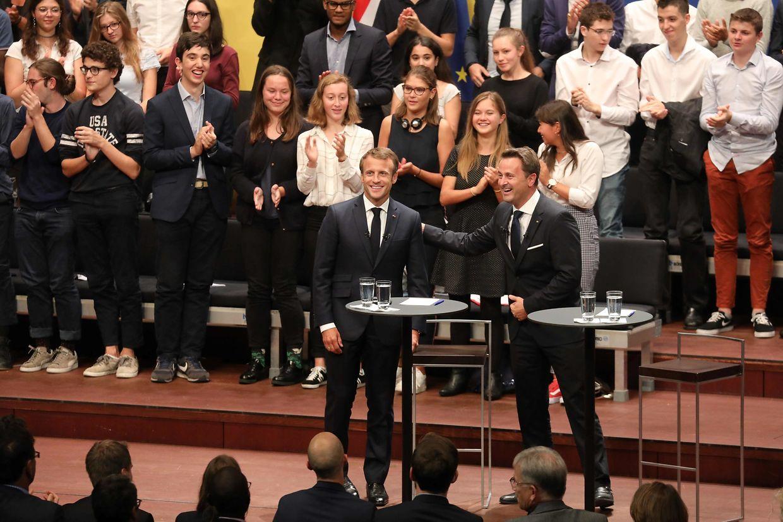 Consultations Citoyennes sur L'Europe avec Emmanuel Macron et Xavier Bettel.