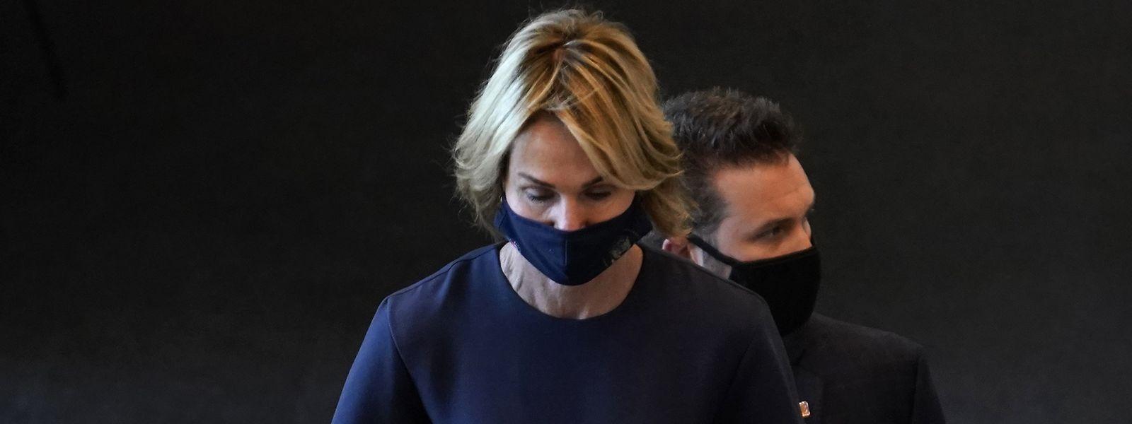 UN-Botschafterin Kelly Craft bei ihrer Ankunft im UN-Gebäude in New York.