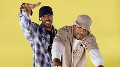 """-  - Text: METHOD & RED: Popular rap moguls Method Man (R) and Redman (L) give new meaning to the phrase """"won't you be my neighbor"""" when they move to an affluent, gated community in METHOD & RED premiering Wendesday, June 16 (9:30-10:00 PM ET/PT) on FOX. """"'2004 Fox Broadcasting Company.�Cr: Chris Cuffaro/FOX."""