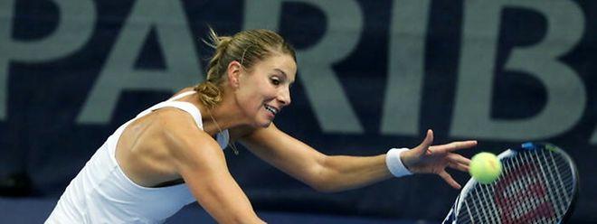 Mandy Minella (hier bei den Luxembourg Open 2014) setzte sich gegen Sofia Arvidsson durch.