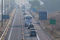 19.9. Chantier E411 / Stau rund um die Autobahn aus Belgien / Autobahn E411 Höhe Autelbas  Foto:Guy Jallay