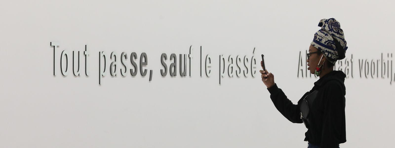 Inschrift im Kolonialmuseum in Brüssel