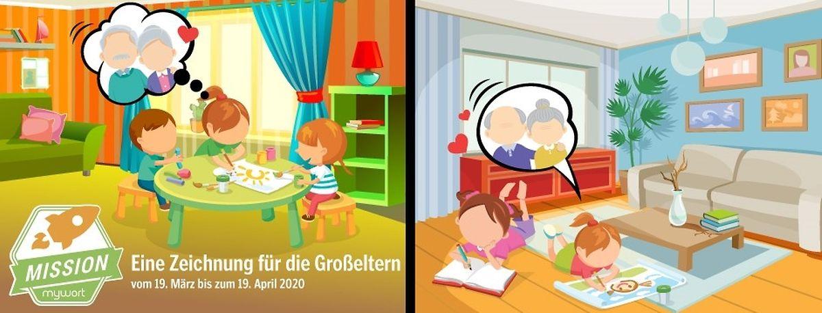 """Die Zeichnungen der Kinder werden dann in einer der nächsten """"mywort""""-Ausgaben veröffentlicht."""