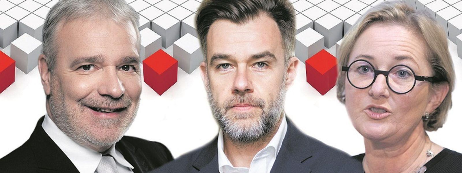 Zu Dan Kersch, Franz Fayot und Paulette Lenert (v.l.n.r.) wird sich nach dem nächsten LSAP-Kongress noch das neue Gesicht an der Parteispitze gesellen.