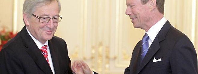 Jean-Claude Juncker wurde als letzter der neun CSV-Minister von Großherzog Henri empfangen.