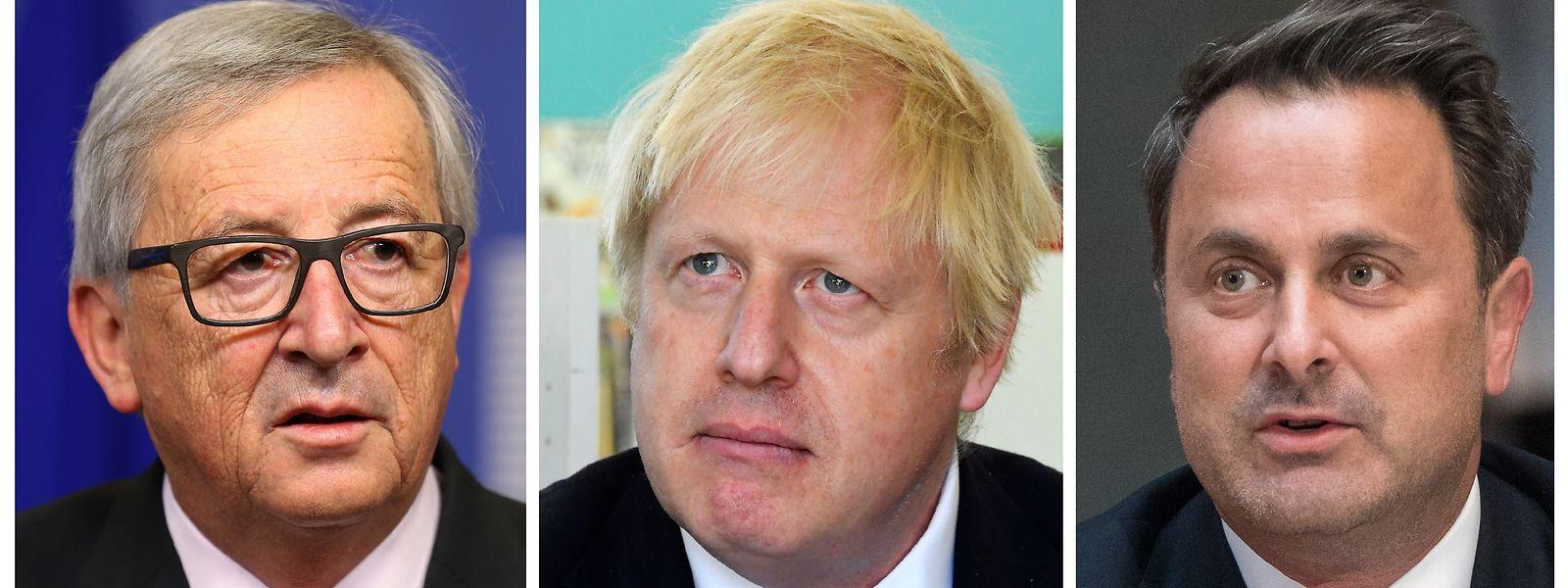 Juncker, Boris e Bettel.