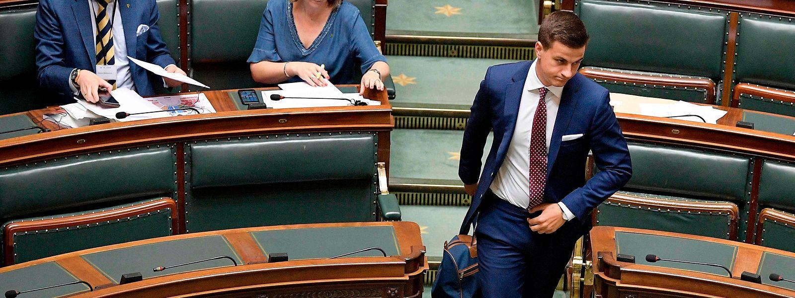 Le député Vlaams Belang Dries Van Langenhove a été inculpé en 2019 d'infractions à la loi sur le racisme. Il est l'étoile montante de l'extrême droite flamande.