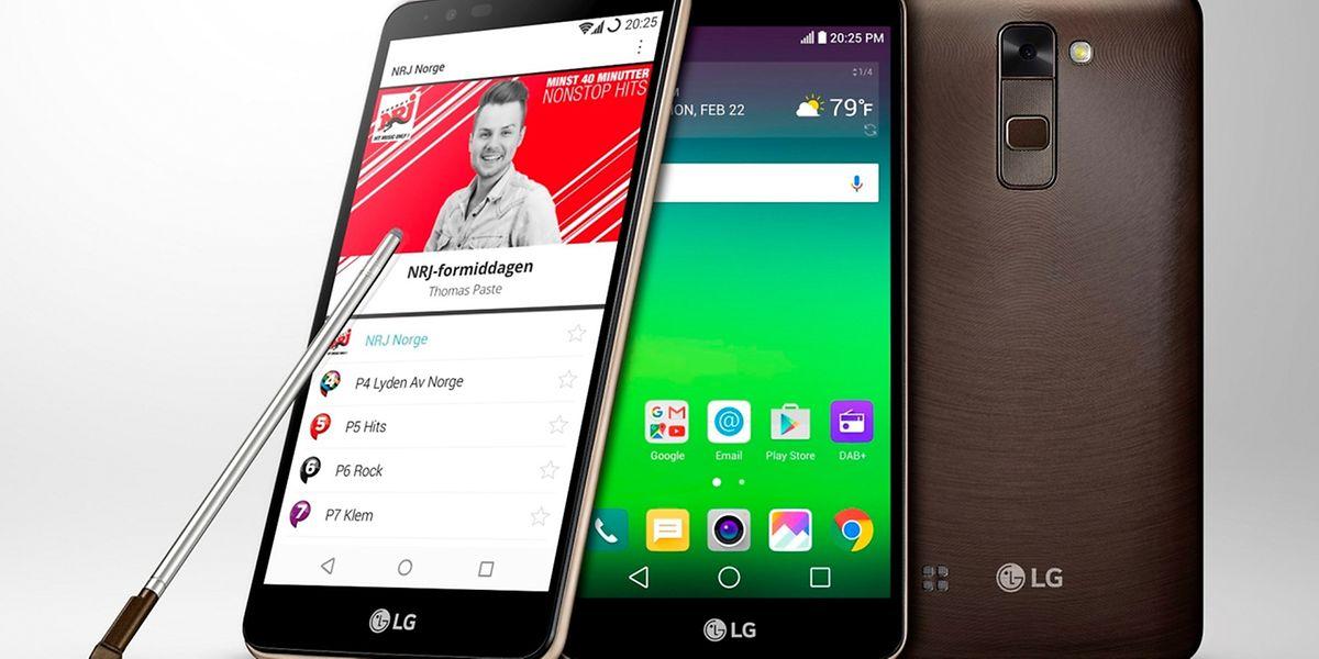 Bereit für DAB+: Das Stylus 2 von LG hat einen integrierten Empfänger für das digitale Antennenradio.