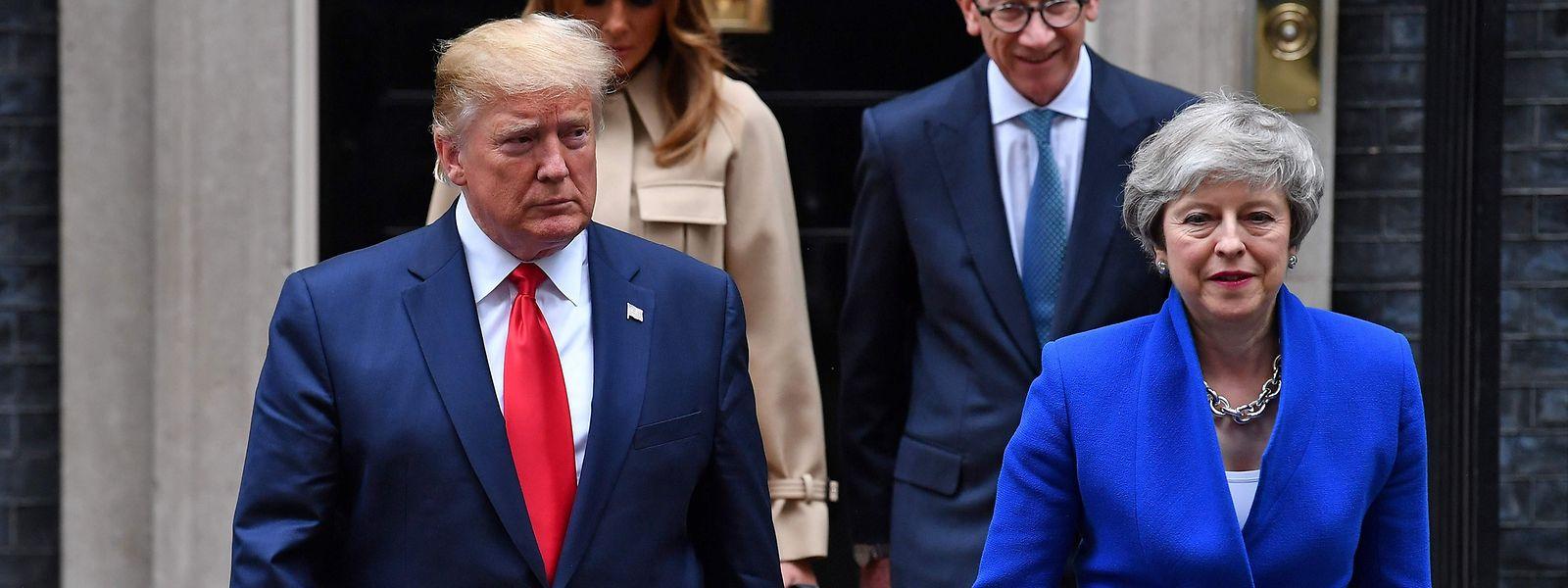 In besseren Zeiten: US-Präsident Donald Trump und die britische Premierministerin Theresa May bei Trumps Staatsbesuch im Juni.
