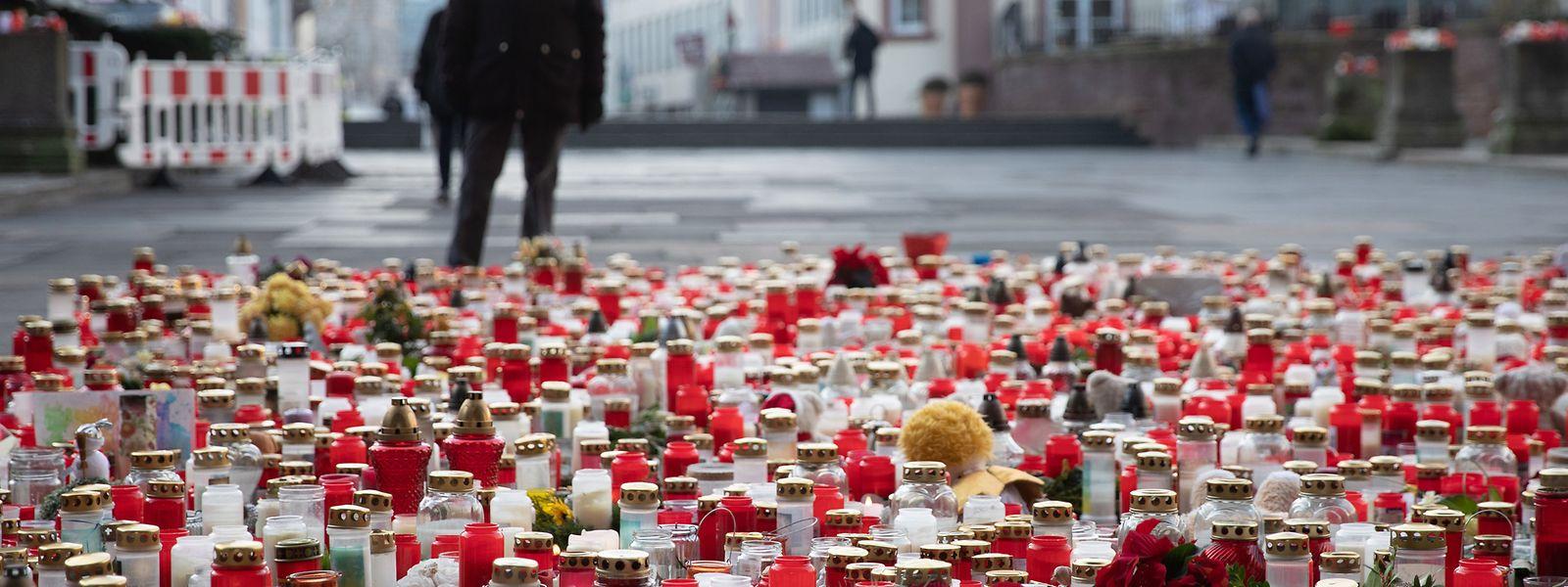 Trier in Trauer: Die Innenstadt ist ein Gedenkort geworden.