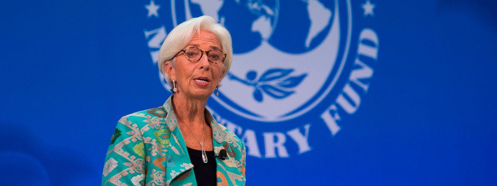 Lagarde sorgt sich auch wegen der Wirtschaftspolitik von Donald Trump.