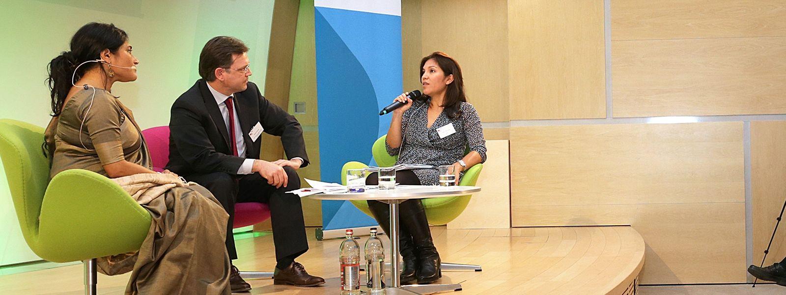 Runa Khan, Jérôme Broutin und Carla Palomares.