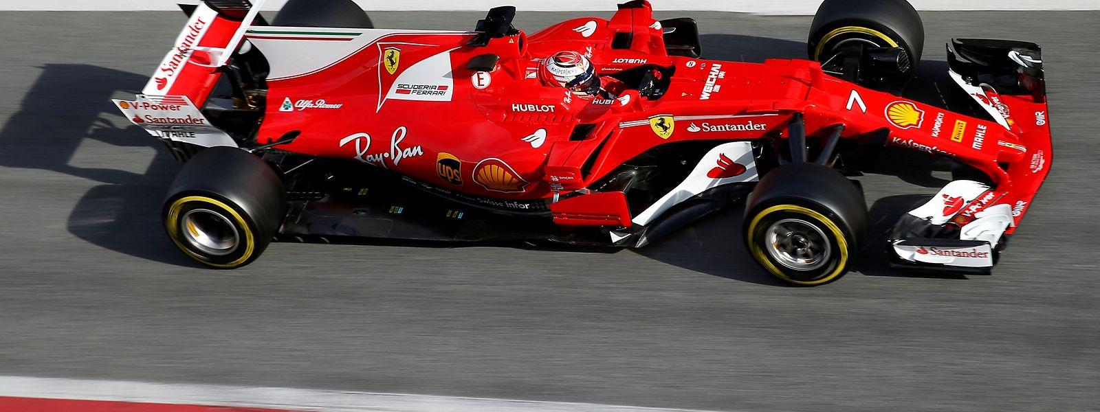 Ferrari mit Kimi Räikkönen glänzte bei den Testfahrten.